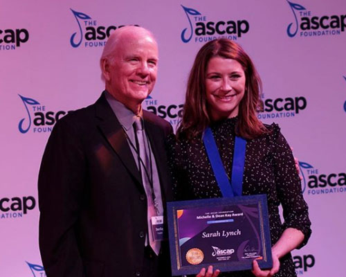 AT THE LINCOLN CENTRE, NYC, RECEIVING THE MICHELLE AND DEAN KAY AWARD FROM ASCAP, 2019.